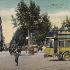 Postales: BARCELONA DETALLE PLAZA DE CATALUÑA. ED. DR TRENKLER CO.,LEIPZIG 1908 BCA 14. SIN CIRCULAR. Lote 210118657