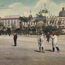 Postales: BARCELONA PLAZA DE CATALUÑA. ED. DR TRENKLER CO.,LEIPZIG 1908 BCA 1. SIN CIRCULAR. Lote 210118783