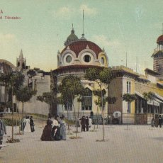 Postales: BARCELONA PLAZA DEL TIBIDABO. ED. DR TRENKLER CO.,LEIPZIG 1908 BCA 64. SIN CIRCULAR. Lote 210118996