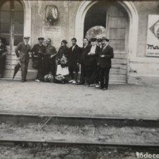 Postales: POSTAL FOTOGRÁFICA - BLANES - ESTACIÓN DE TREN- COSTA BRAVA- AÑO 1925. Lote 210299808