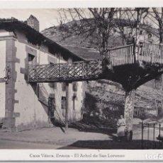 Postales: ERMUA (VIZCAYA) - CASA VASCA - AL ARBOL DE SAN LORENZO. Lote 210416313