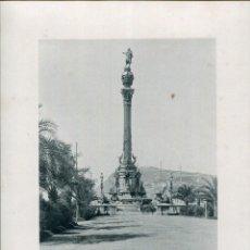 Postales: LÁMINA BARCELONA-MONUMENTO COLÓN-HAUSER Y MENET- 24X30 AÑO 1891- RARA. Lote 210539003