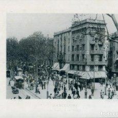 Postales: LÁMINA BARCELONA-RAMBLA FLORES-EDIFICIO CASA BRUNO--HAUSER Y MENET- 24X30 AÑO 1891- RARA. Lote 210539125