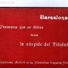 Postales: BARCELONA - PANORAMA QUE SE DIVISA DESDE LA CUMBRE DEL TIBIDABO 10X120 CM.. Lote 210718780