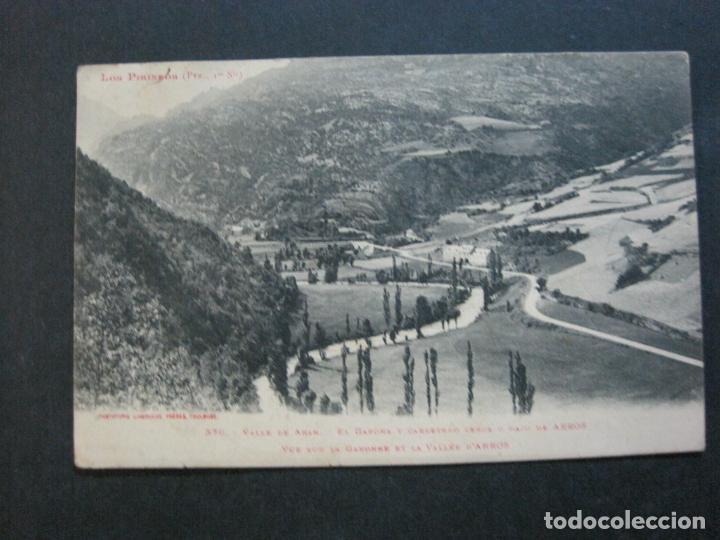 VALLE DE ARAN-GARONA Y CARRETERA-LABOUCHE FRERES-376-POSTAL ANTIGUA-(72.609) (Postales - España - Cataluña Antigua (hasta 1939))