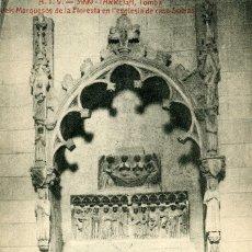 Postales: TARREGA - TOMBA DELS MARQUESOS DE LA FLORESTA. Lote 211255314