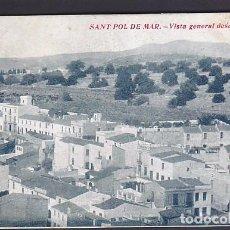 Postales: POSTAL SANT POL DE MAR VISTA GENERAL DESDE S. PAU. Lote 211262679