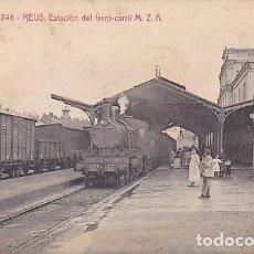 Postales: POSTAL ATV REUS ESTACION FERRO-CARRIL M.Z.A.. Lote 211262865
