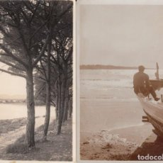 Postales: 2 POSTALES FOTOGRAFICAS DE SALOU - TARRAGONA - AÑOS 20. Lote 211268515