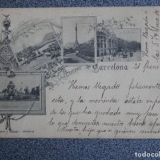 Postales: CATALUÑA RECUERDO DE BARCELONA POSTAL ANTIGUA HAUSER 18. Lote 211397191