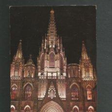 Postales: POSTAL CIRCULADA - BARCELONA 733 - CATEDRAL - EDITA LUZ COLOR. Lote 211522150