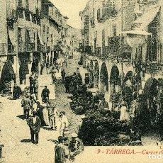 Postales: TÁRREGA - CARRER DEL CARME. Lote 211636135