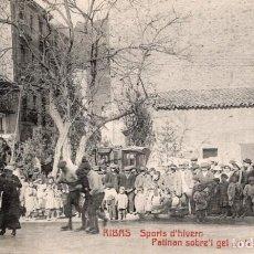 Postales: RIBAS. SPORTS D'HIVERN. PATINANT SOBRE GEL. Lote 211640951