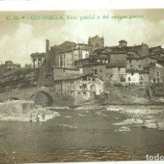 Postales: (PS-63378)POSTAL FOTOGRAFICA DE GIRONELLA-VISTA PARCIAL Y DEL ANTIGUO PUENTE.C.O.. Lote 211797877
