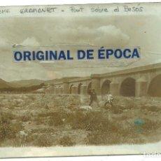 Postales: (PS-63382)POSTAL FOTOGRAFICA DE SANTA COLOMA DE GRAMANET-PUENTE SOBRE EL BESOS. Lote 211798600
