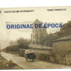 Postales: (PS-63393)POSTAL FOTOGRAFICA DE SANTA COLOMA DE GRAMANET-TORRE FRANQUESA. Lote 211800306