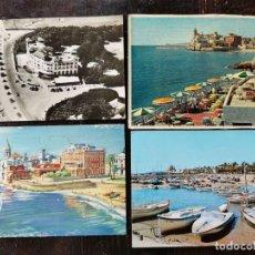 Postales: 4 POSTALES DE SITGES AÑOS 50. Lote 212012532