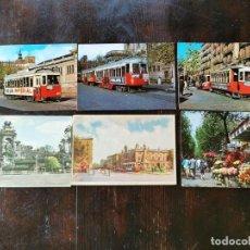 Postales: 6 POSTALES DE BARCELONA TRANVIAS AÑOS 50 - 60 - 70. Lote 212013051