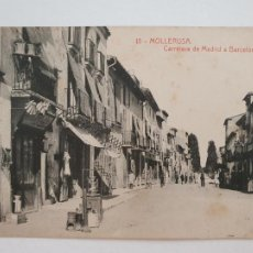 Postales: MOLLERUSSA - CARRETERA DE MADRID A BARCELONA - LLEIDA - CAT6. Lote 212556595