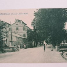 Postales: MOLLERUSSA - OFICINES CANAL D'URGELL - LLEIDA - CAT6. Lote 212556826