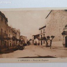 Postales: CARDEDEU - PLAÇA DE L'ESGLÉSIA - CAT7. Lote 212641051