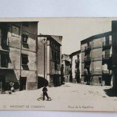 Postales: MAÇANET DE CABRENYS - PLAÇA DE LA REPÚBLICA - CAT8. Lote 212695155