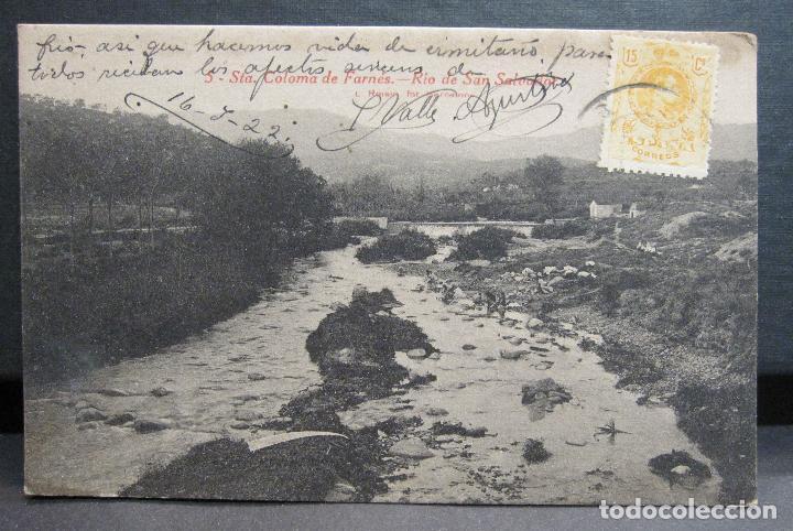 POSTAL. SANTA COLOMA DE FARNÉS. RIO DE SAN SALVADOR. L. ROISIN, Nº 5 (Postales - España - Cataluña Antigua (hasta 1939))