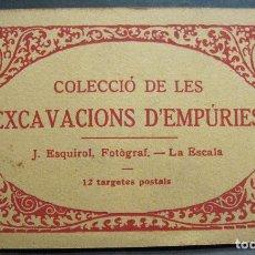 Postales: BLOC CON 10 POSTALES COLECCIÓ DE LES EXCAVACIONS D'EMPÚRIES. FOTOGRÁFO J. ESQUIROL, LA ESCALA. Lote 212964036