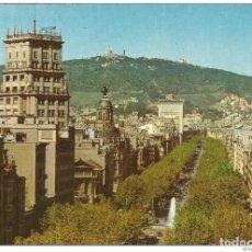 Postales: // E128 - POSTAL - BARCELONA - PASEO DE GRACIA - TIBIDABO AL FONDO. Lote 213150170