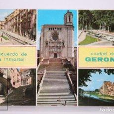 Postales: POSTAL EN COLOR - RECUERDO DE LA INMORTAL CIUDAD DE GERONA / GIRONA - ED. JP. Lote 213238787