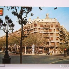 Postales: POSTAL EN COLOR - BARCELONA, Nº 82. OBRAS DE GAUDÍ. LA PEDRERA, PASEO DE GRACIA - CEDOSA. Lote 213245521