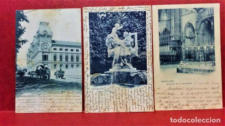 Postales: LOTE 16 POSTALES DE BARCELONA,INICIOS S. XX.VARIOS FOTOGRAFOS. - Foto 2 - 213930917