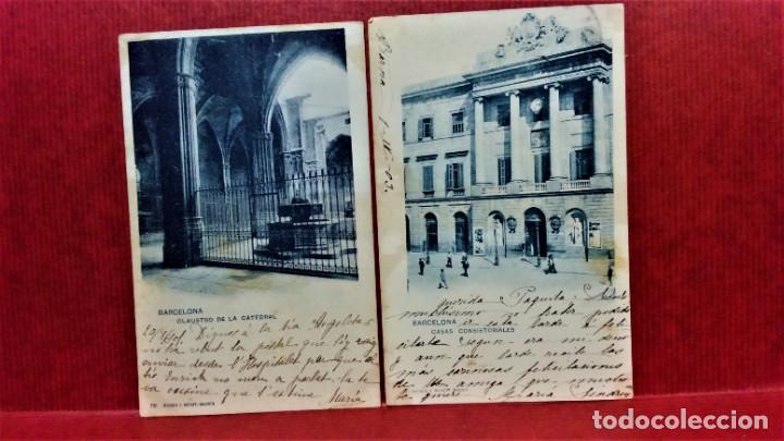 Postales: LOTE 16 POSTALES DE BARCELONA,INICIOS S. XX.VARIOS FOTOGRAFOS. - Foto 4 - 213930917