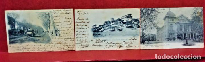 Postales: LOTE 16 POSTALES DE BARCELONA,INICIOS S. XX.VARIOS FOTOGRAFOS. - Foto 6 - 213930917