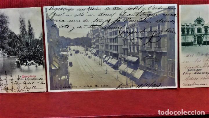 Postales: LOTE 16 POSTALES DE BARCELONA,INICIOS S. XX.VARIOS FOTOGRAFOS. - Foto 12 - 213930917