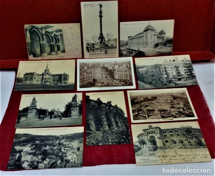 LOTE 11 POSTALES DE BARCELONA,PRINCIPIOS S XX. FOT.MISSÉ,ROISIN Y OTROS. (Postales - España - Cataluña Antigua (hasta 1939))