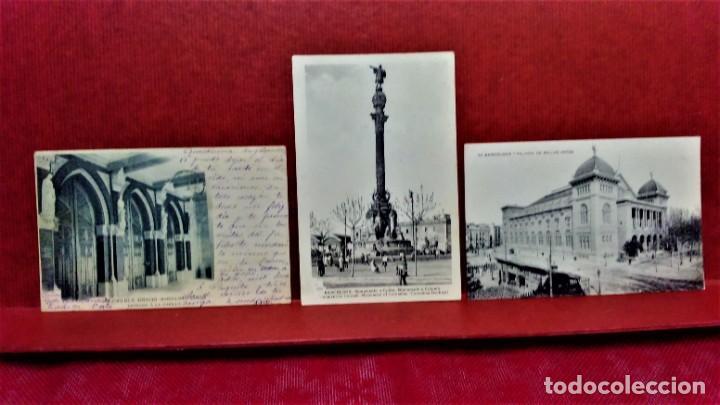 Postales: LOTE 11 POSTALES DE BARCELONA,PRINCIPIOS S XX. FOT.MISSÉ,ROISIN Y OTROS. - Foto 2 - 213934365