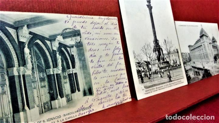 Postales: LOTE 11 POSTALES DE BARCELONA,PRINCIPIOS S XX. FOT.MISSÉ,ROISIN Y OTROS. - Foto 3 - 213934365