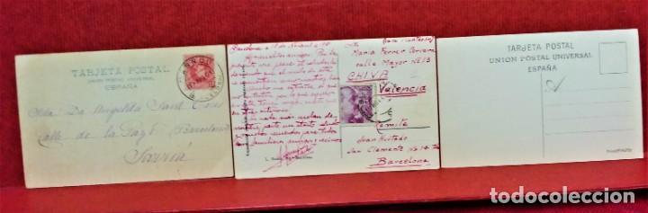 Postales: LOTE 11 POSTALES DE BARCELONA,PRINCIPIOS S XX. FOT.MISSÉ,ROISIN Y OTROS. - Foto 4 - 213934365