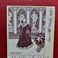 Postales: POSTAL CIRCOL DE SN LLUCH,ILUSTRACIÓN DE OCTAVI DE ROMEU (PSEUDÓNIMO DE EUGENI D´ORS) .AÑO 1903. Lote 213934770
