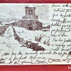 Postales: POSTAL CIRCOL DE SN LLUCH,ILUSTRACIÓN DE D.BAIXERAS V .AÑO 1903. Lote 213935092