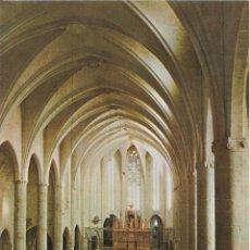 Postales: // E453 - POSTAL - INTERIOR DE LA IGLESIA CATEDRALICIA - CASTELLO DE AMPURIAS. Lote 214199246