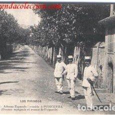 Postales: PUIGCERDÁ.- ADUANA ESPAÑOLA I AVENIDAÀ PUIGCERDA. Lote 214546991