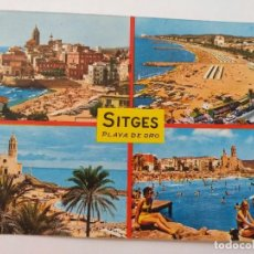Cartoline: LOTE DE 4 POSTALES SITGES Y BARCELONA CIRCULADAS Y SELLADAS / COLOR. Lote 214622653