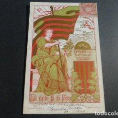 Postales: SOLIDARITAT CATALANA 1906 POSTAL SIN DIVIDIR. Lote 215939157