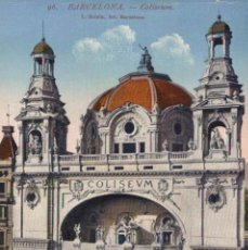 Cartes Postales: BARCELONA: COLISEUM. BARCELONA CATALUÑA CATALUNYA ESPAÑA ESPAGNE. Lote 216879892