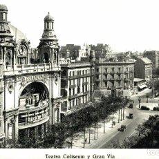 Cartes Postales: BARCELONA- TEATRO COLISEUM Y GRAN VÍA. BARCELONA CATALUÑA CATALUNYA ESPAÑA ESPAGNE. Lote 216909911