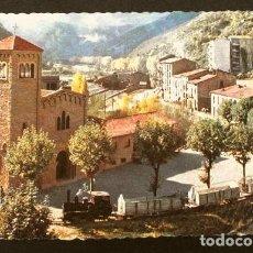 Postales: GUARDIOLA DE BERGA (BARCELONA) 60 IGLESIA PARROQUIAL - ED. PUIG - COLOR NO CIRCULADA - TREN. Lote 217224927