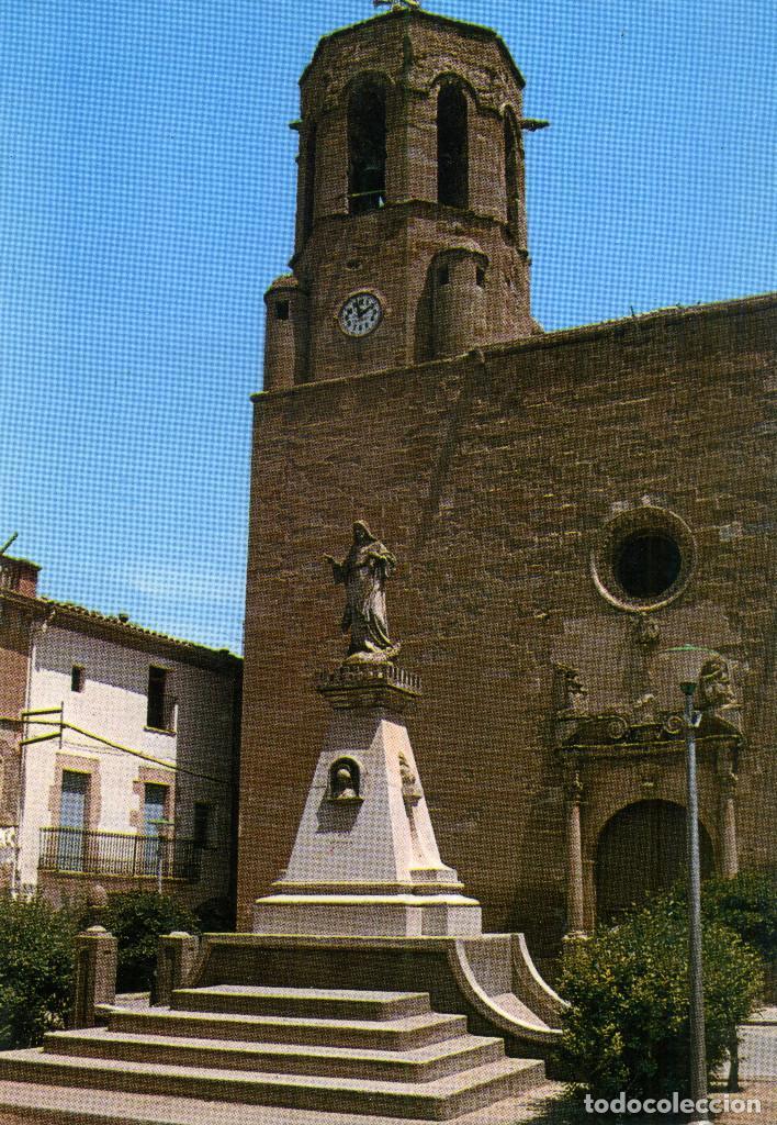 LINYOLA - PLAÇA DE L´IGLESIA (Postales - España - Cataluña Moderna (desde 1940))