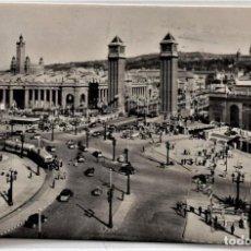 Postales: BARCELONA - PLAZA DE ESPAÑA Y PALACIO MONTJUICH. Lote 217331538